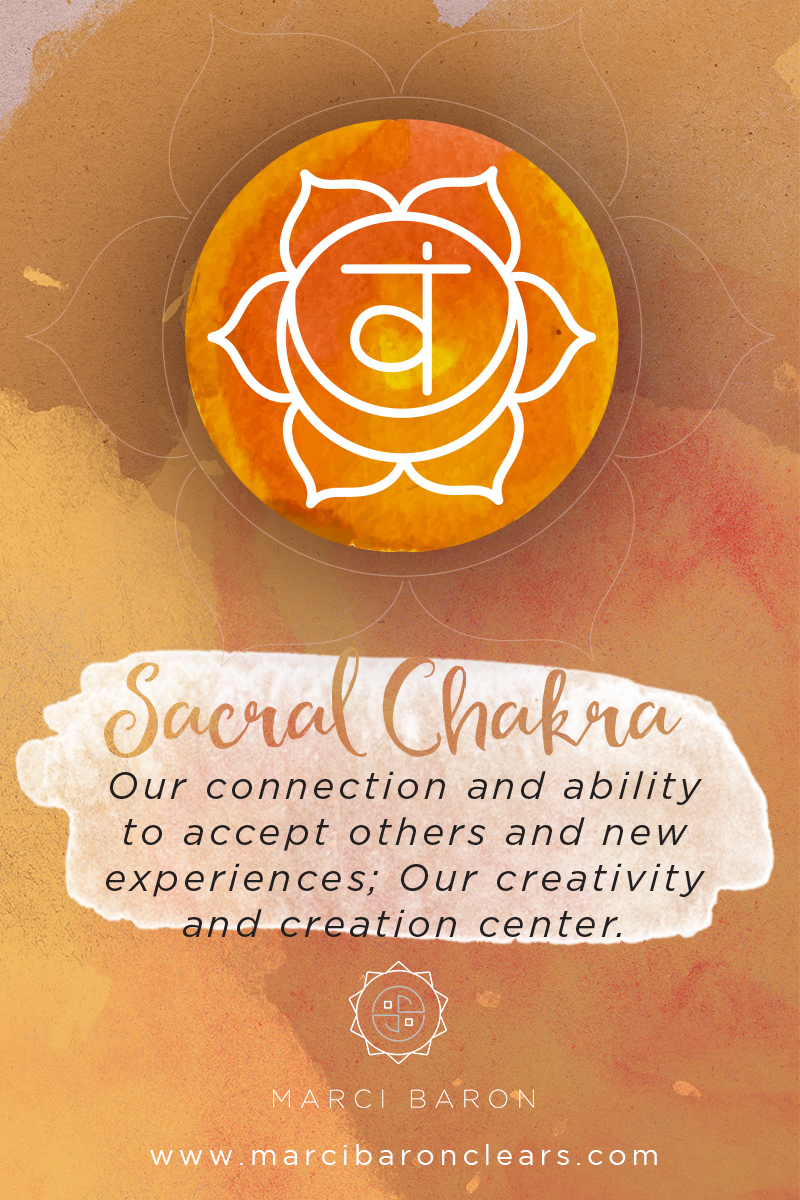 In the Sacral Chakra healing...