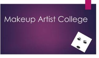 Makeup artist College Courses