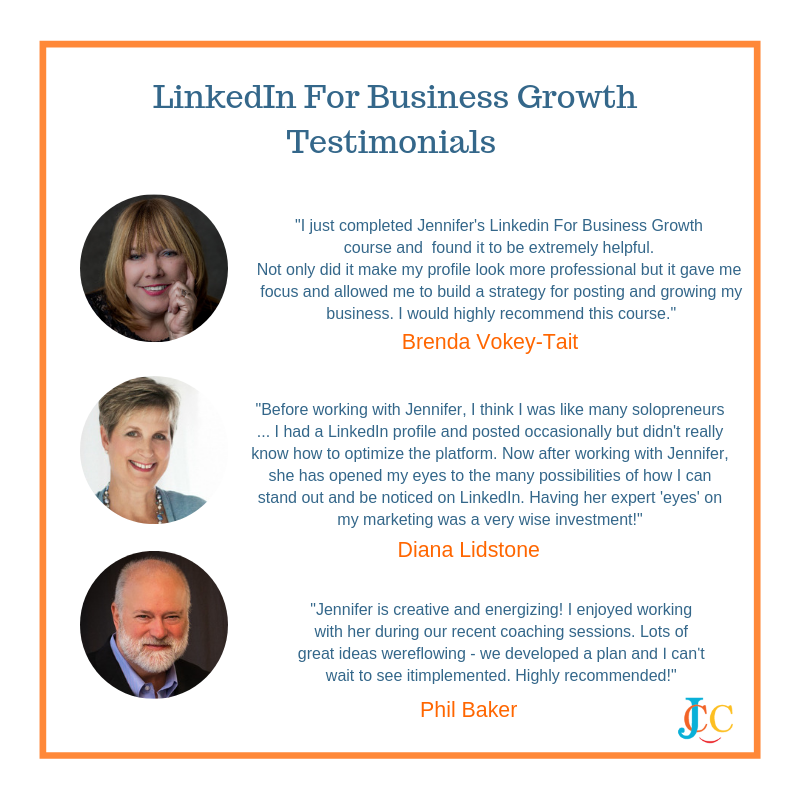 Here Are Just A Few Testimonials from LinkedIn For Business Growth Clients