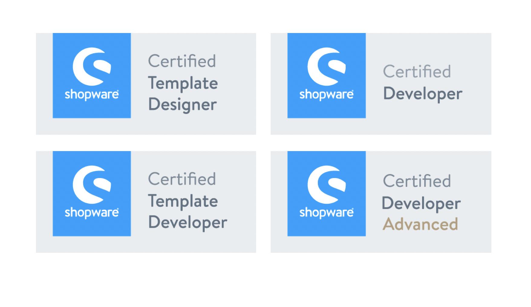 Shopware-Zertifikate