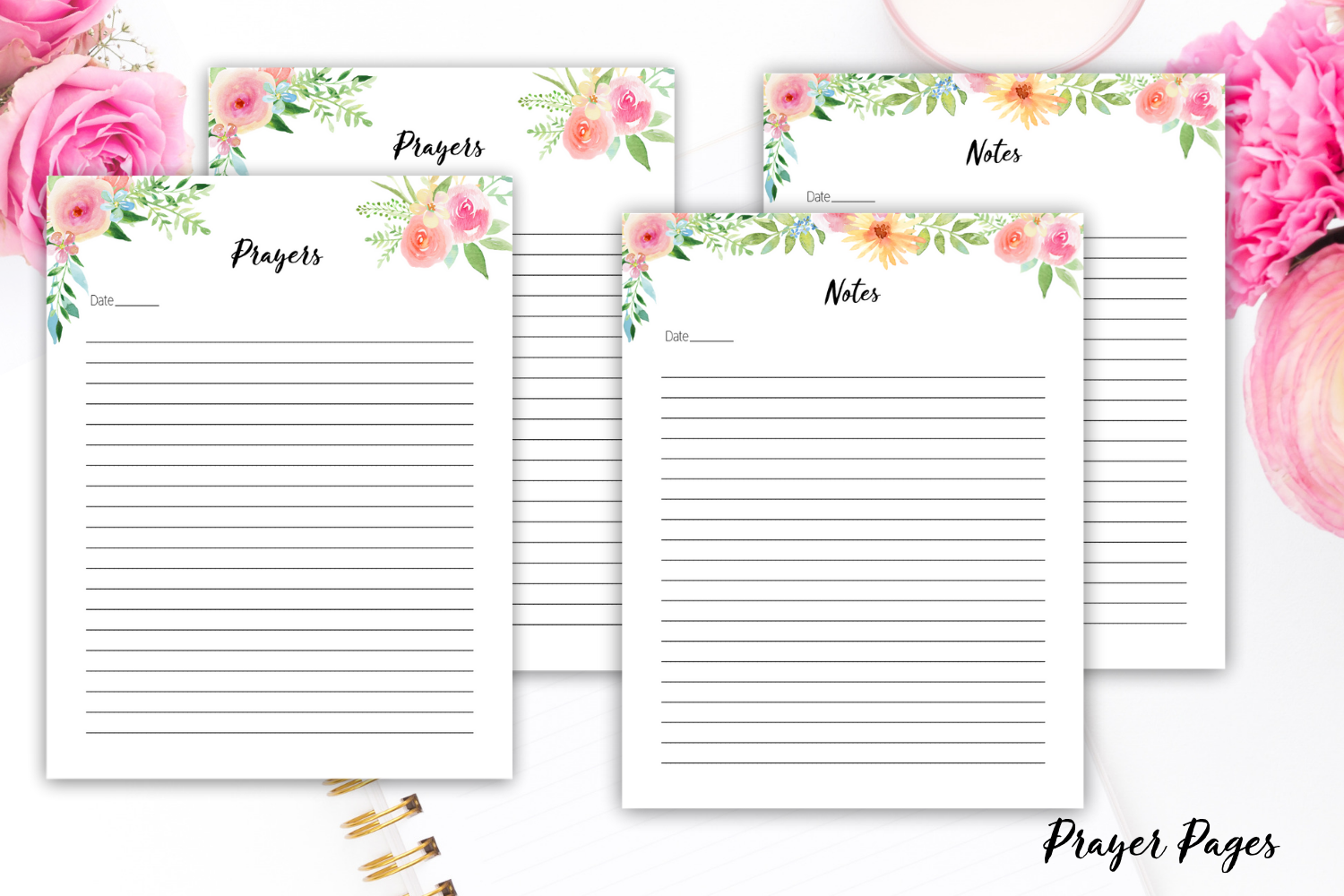 Beautiful Floral Pages