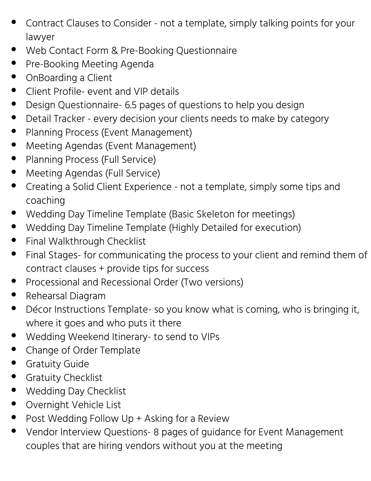 Wedding Planning Process Kit + Workflow