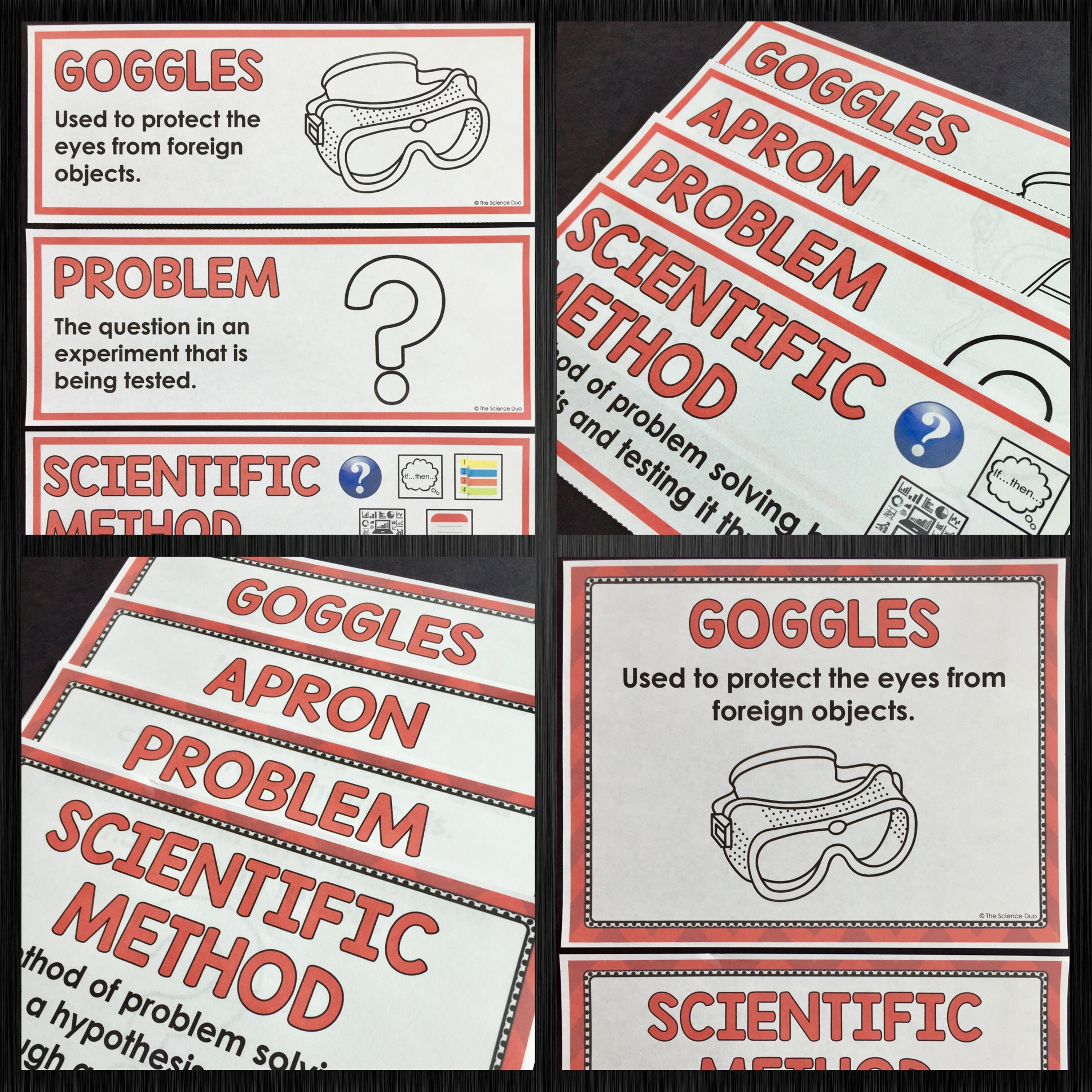 Safety and Scientific Method Word Wall
