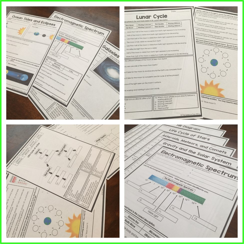 Space Homework Pages