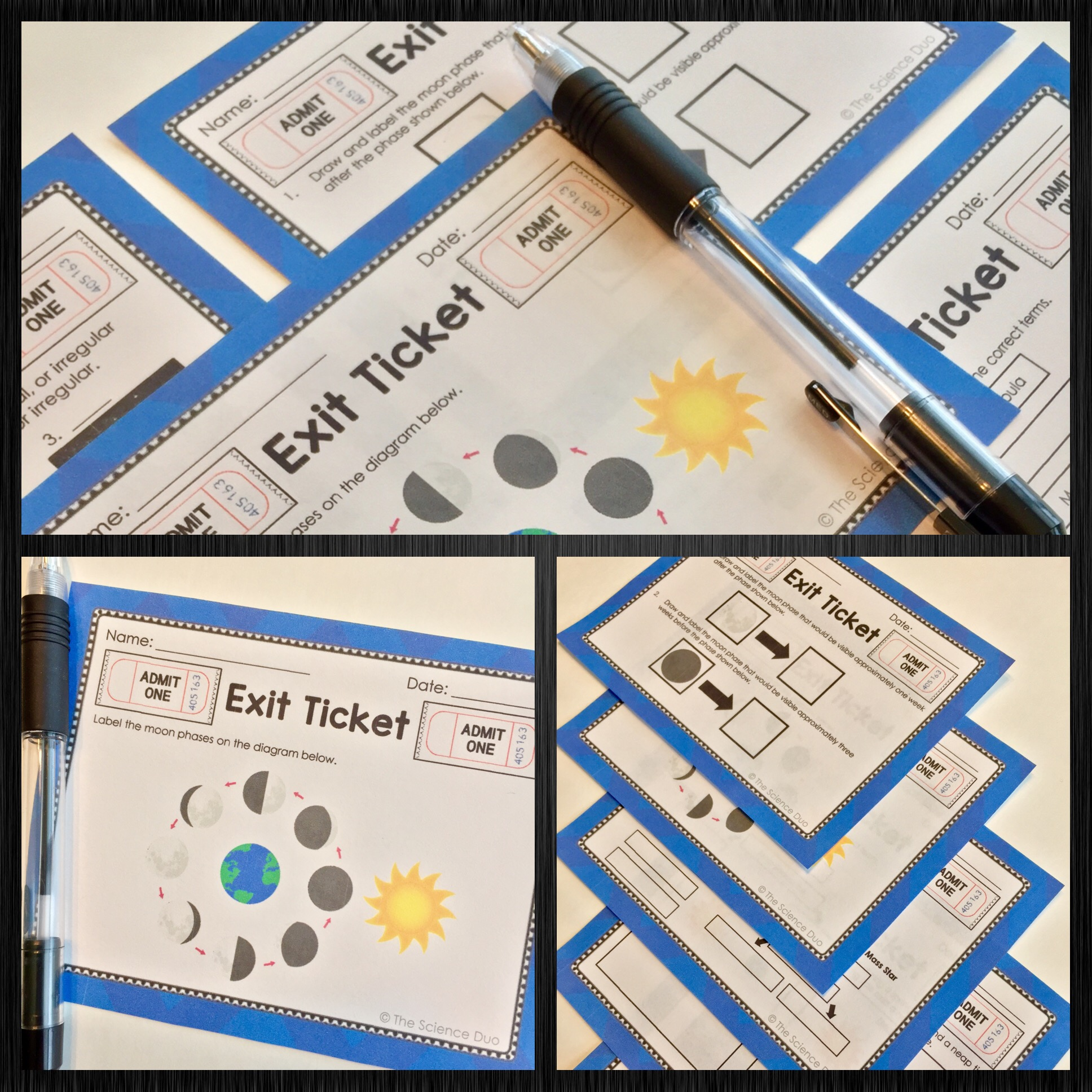 Space Exit Tickets