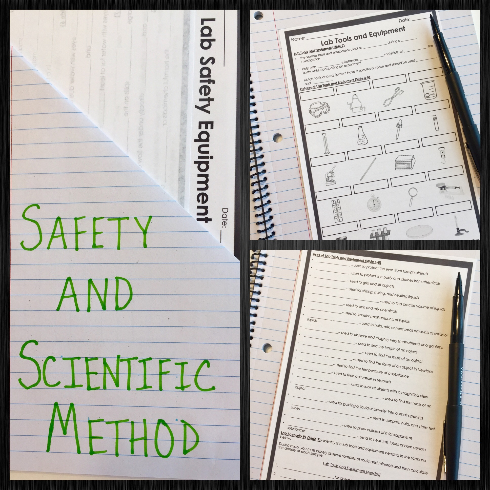 Safety and Scientific Method PowerPoint and Notes Bundle