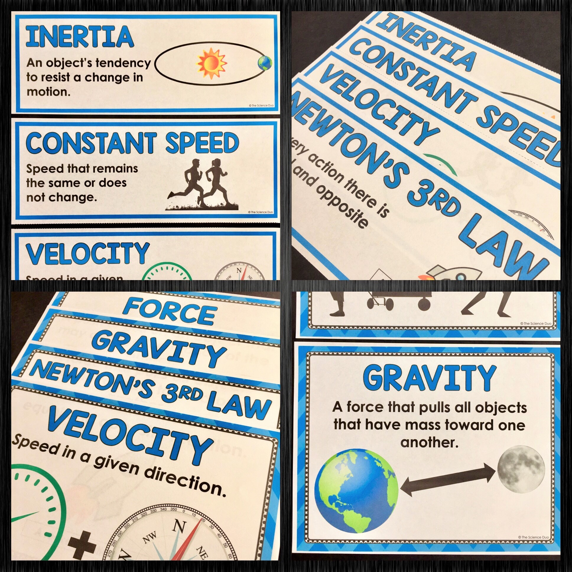 Force and Motion Word Wall