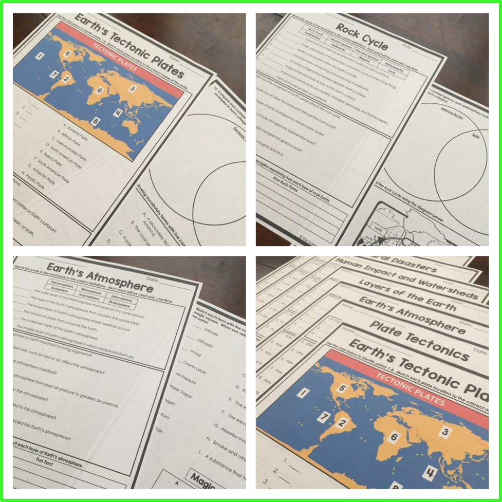 Earth Homework Pages