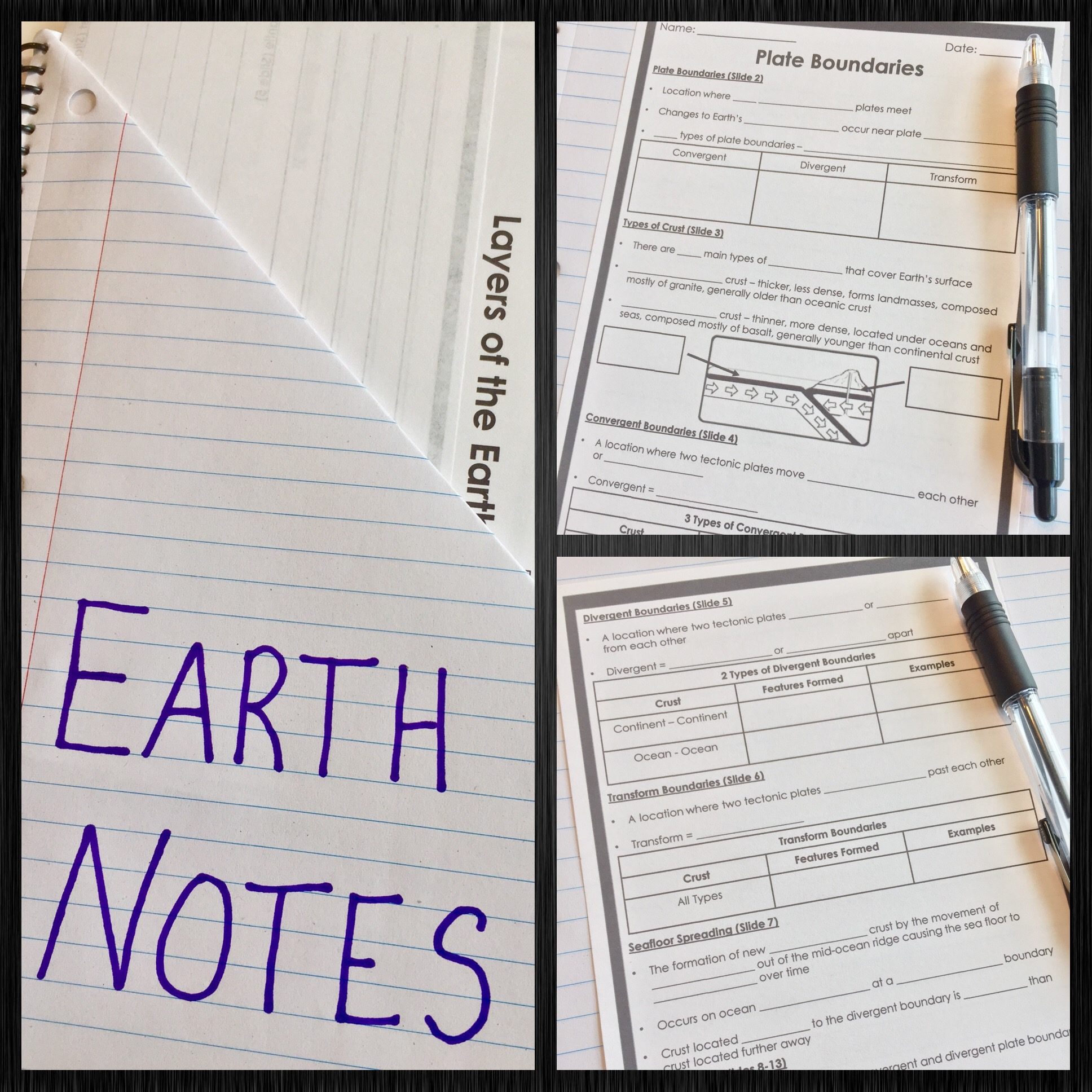 Earth PowerPoint and Notes Bundle