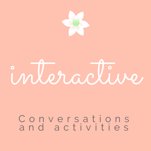 Interactive activities. Couple's conversations.