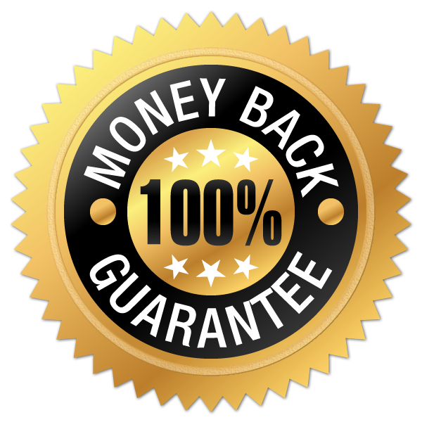 Enjoy Your 30 Day 100% Money Back Guarantee With Terms Right on our Website!