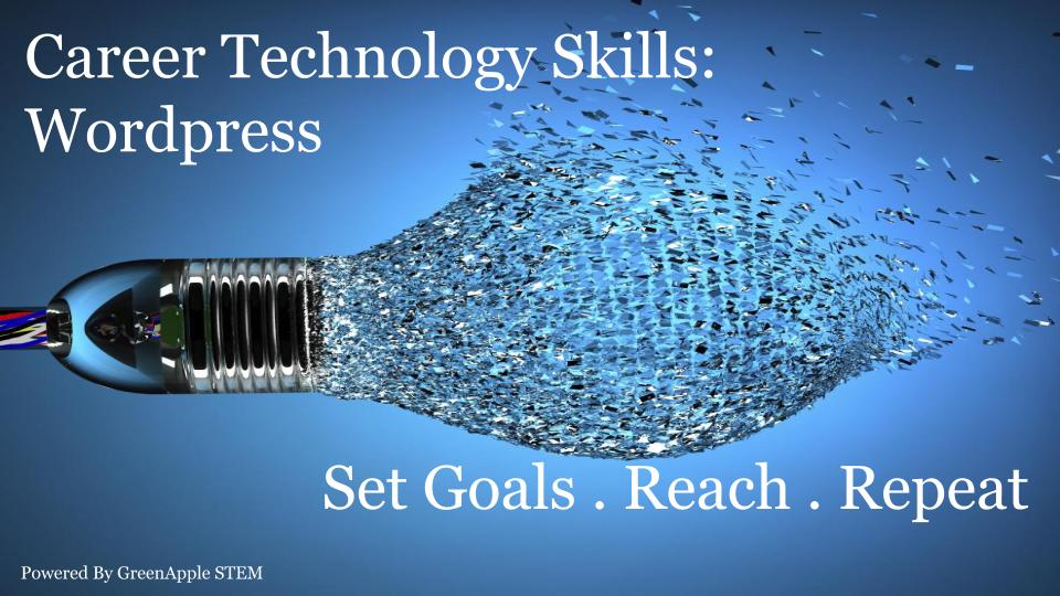 Career Technology Skills: Wordpress