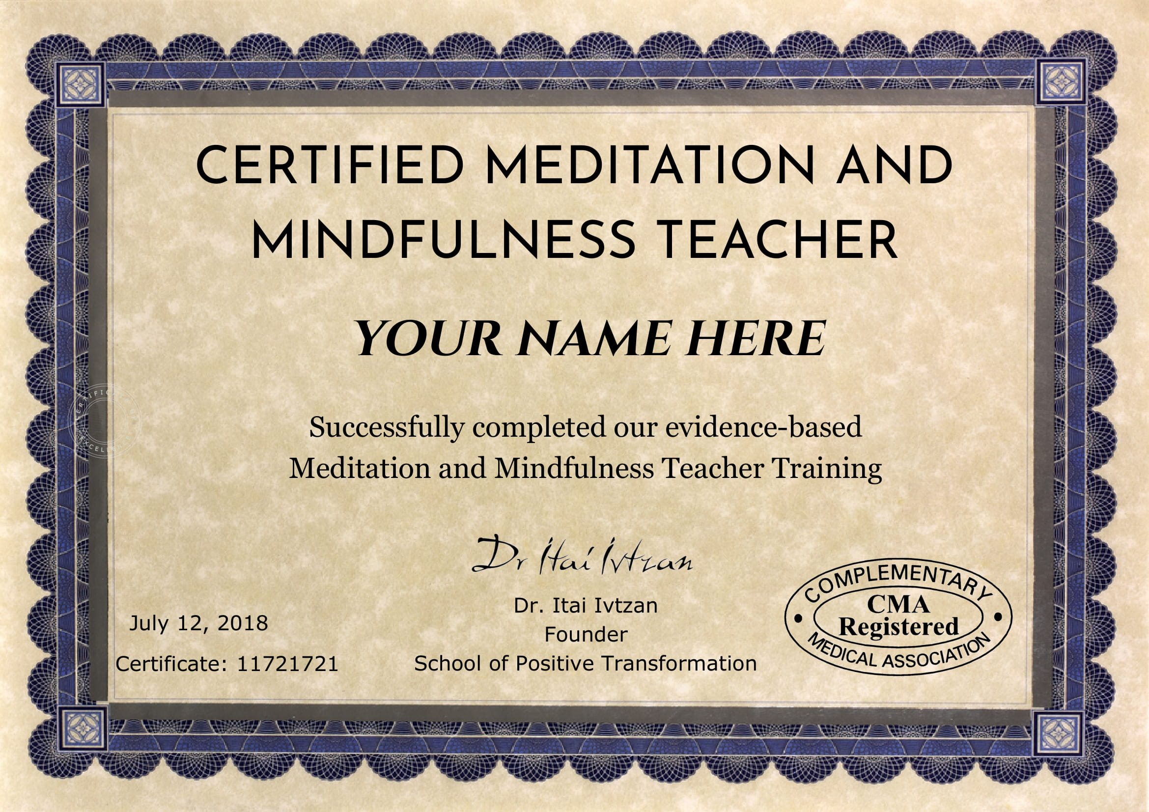 Meditation And Mindfulness Teacher Training