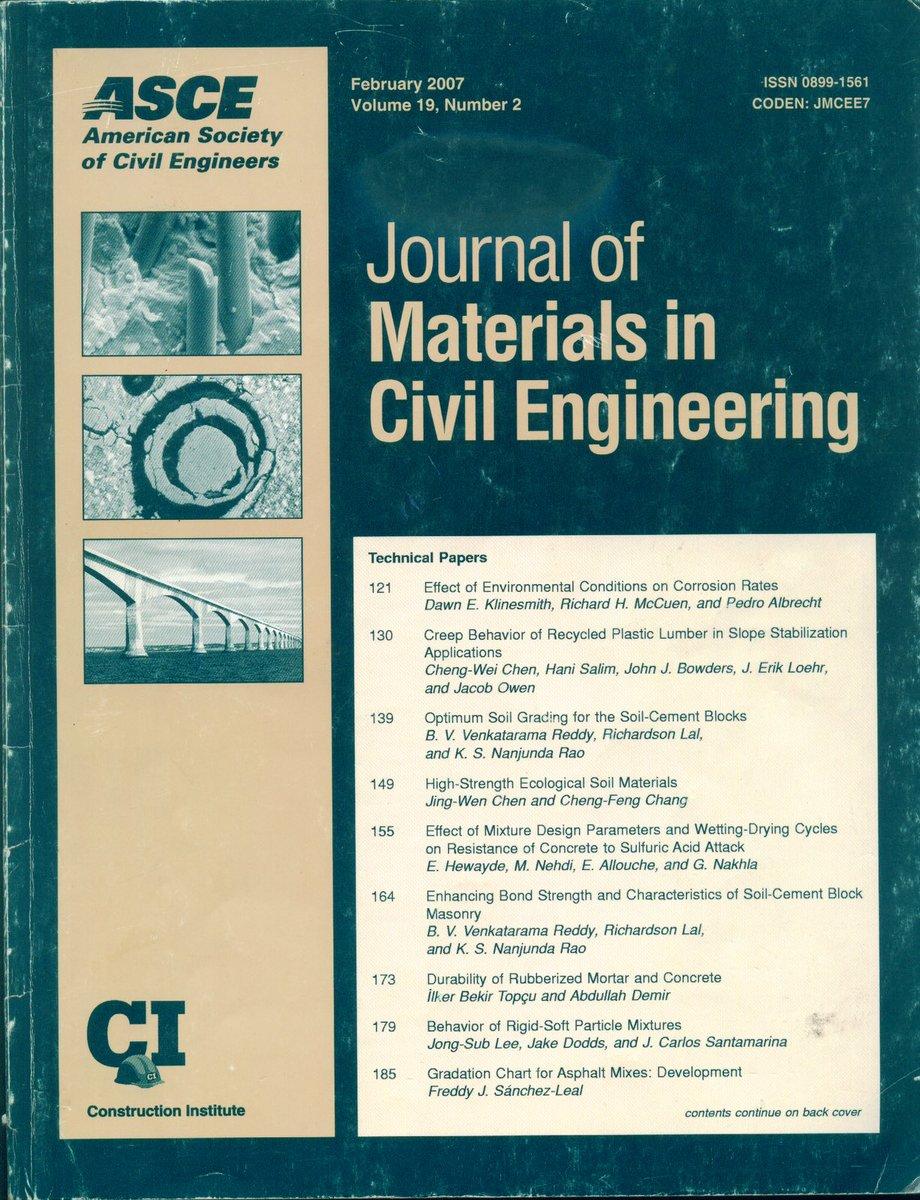 Publicaciones en ASCE Journal