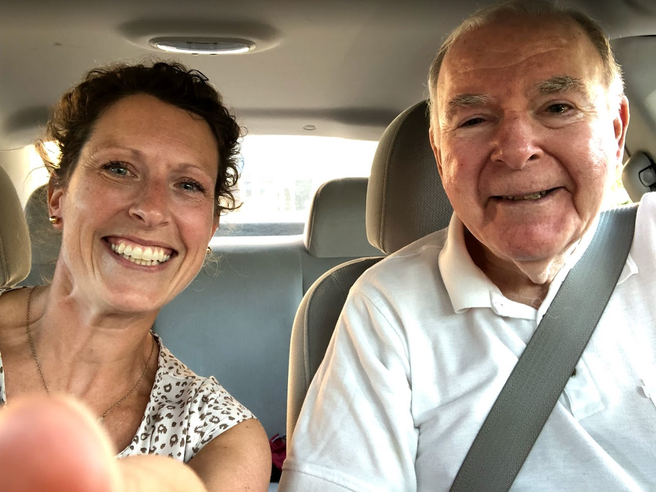 Driver excited to return to driving after recovering from his stroke.
