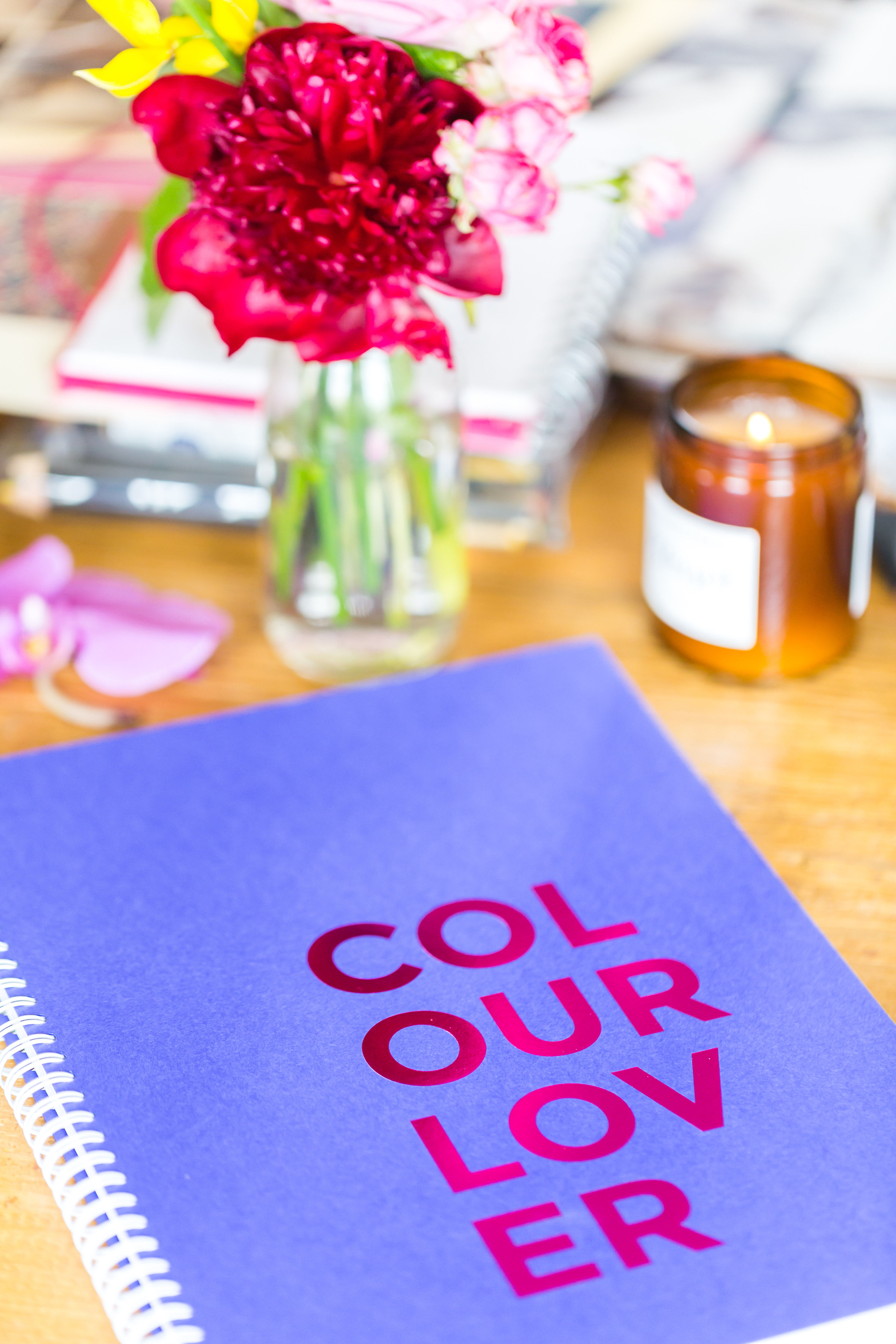 The limited edition Colour Lovers sketch book