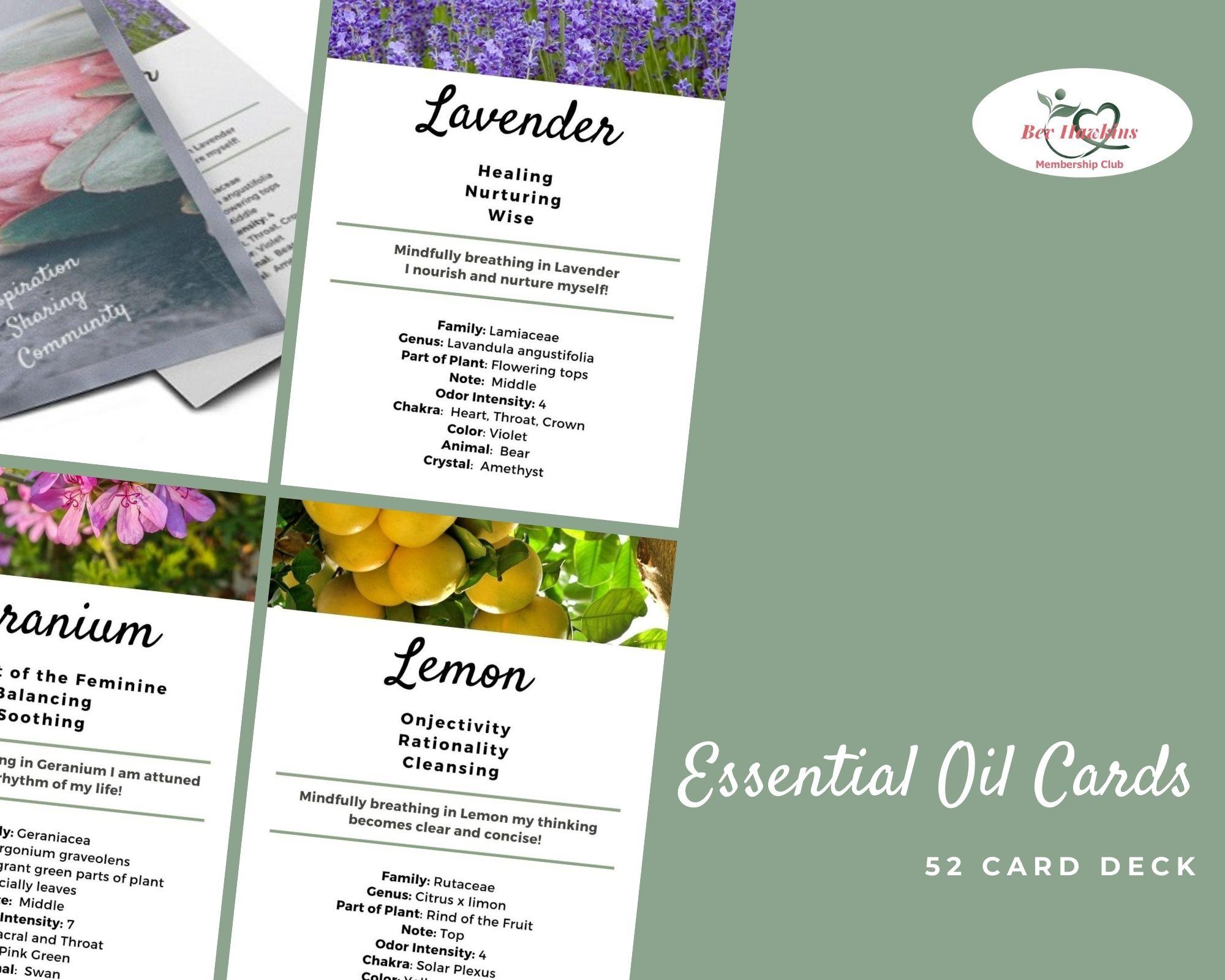 Essential Oil Cards
