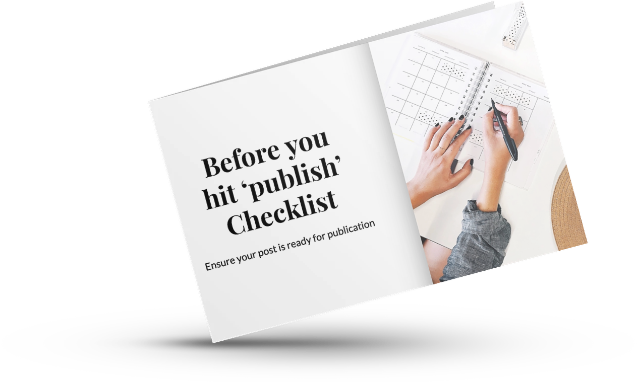 Before you hit 'publish' checklist