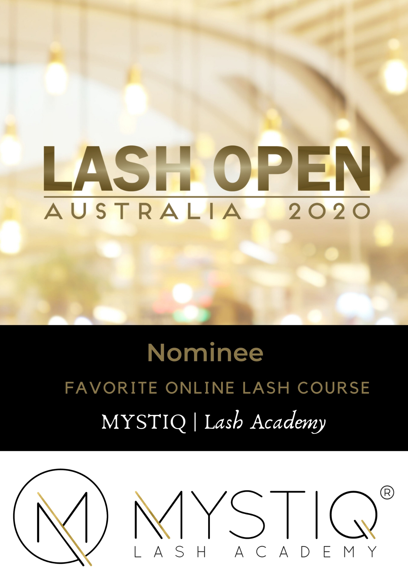 Lash Open 2020 Award Nomination - Online Lash Course