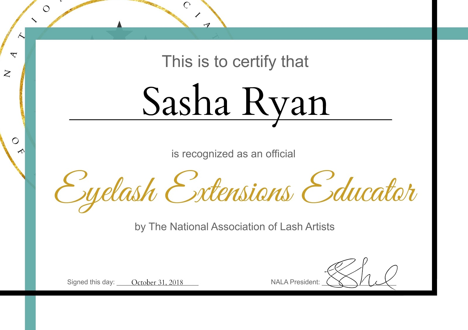 Eyelash Extensions Educator Certificate