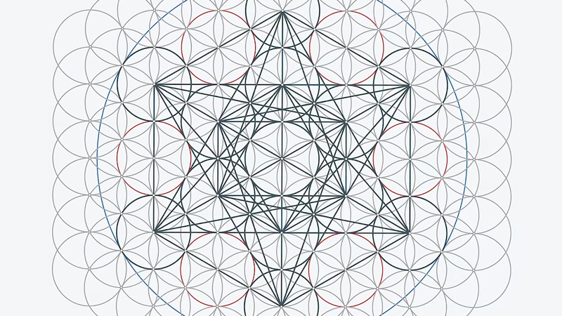 thumbnail image showing metatron's cube design