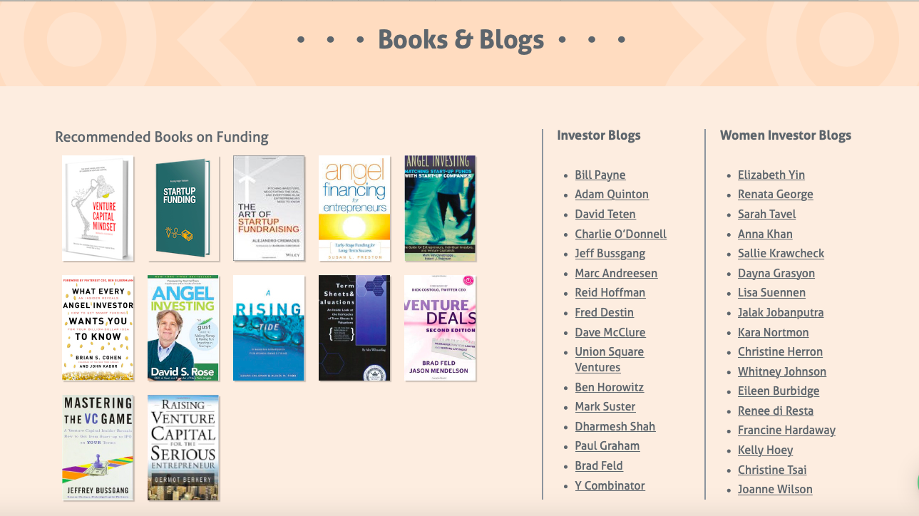 Funding Articles, Books, Investor Blogs, Podcasts,