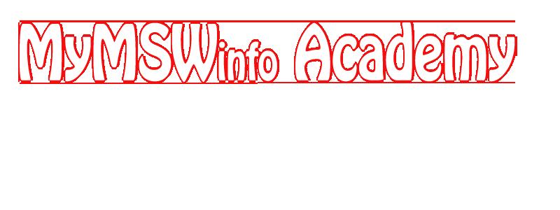 MyMSW.Info Academy