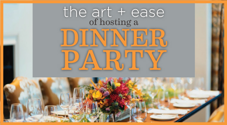 How many occasions are coming up that you would love to host?