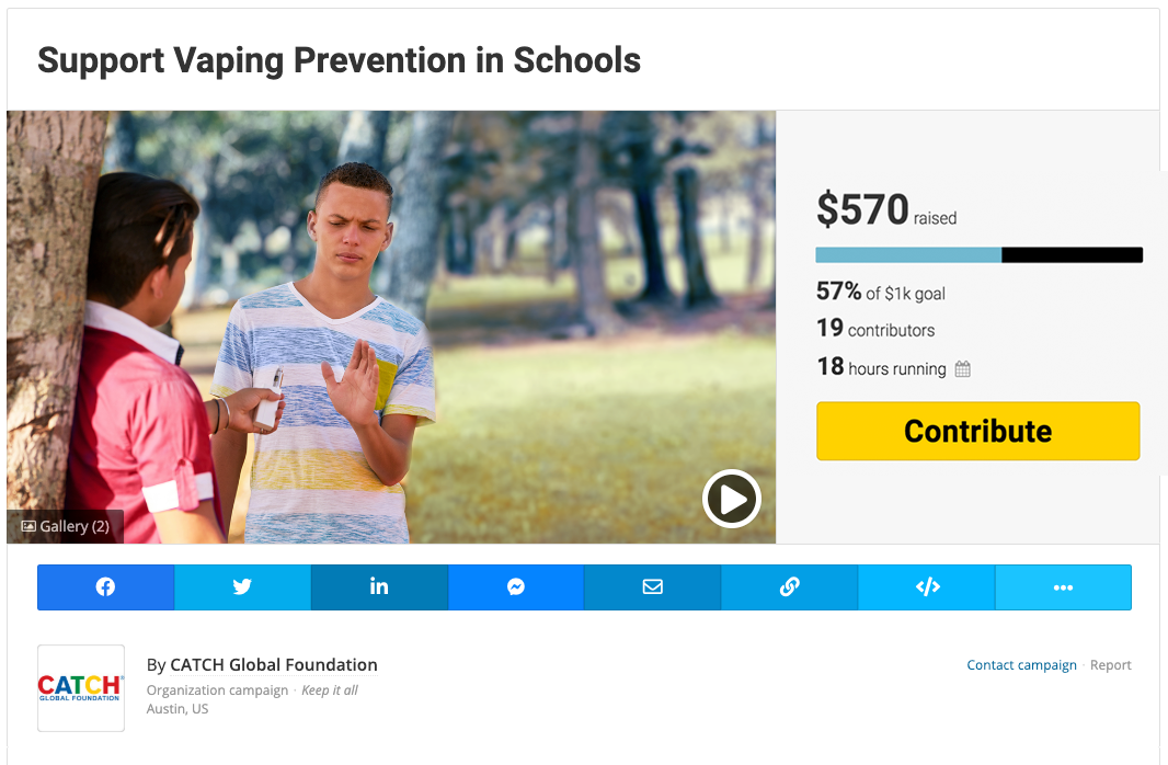 Fundraise for Vaping Prevention