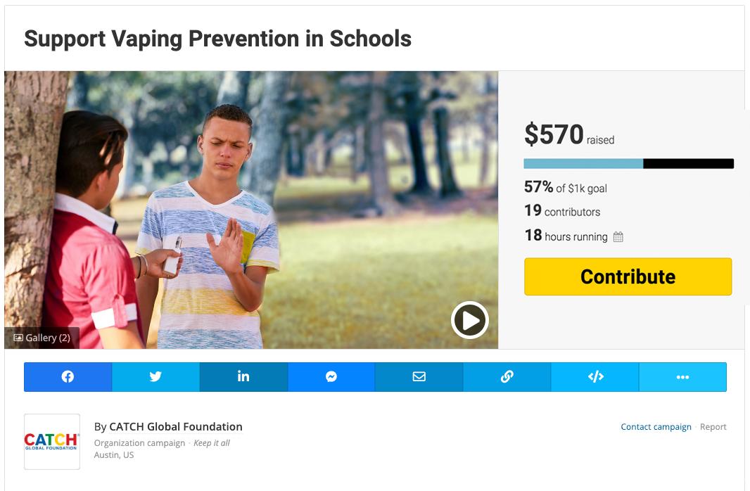 Fundraise for Vaping Prevention