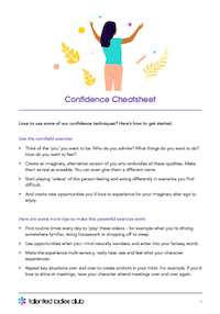 PLUS! GET OUR CONFIDENCE CHEATSHEET