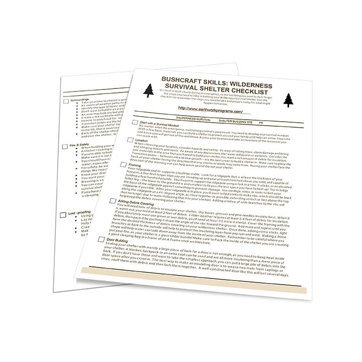 [BONUS] Wilderness Survival Shelter Checklist Download