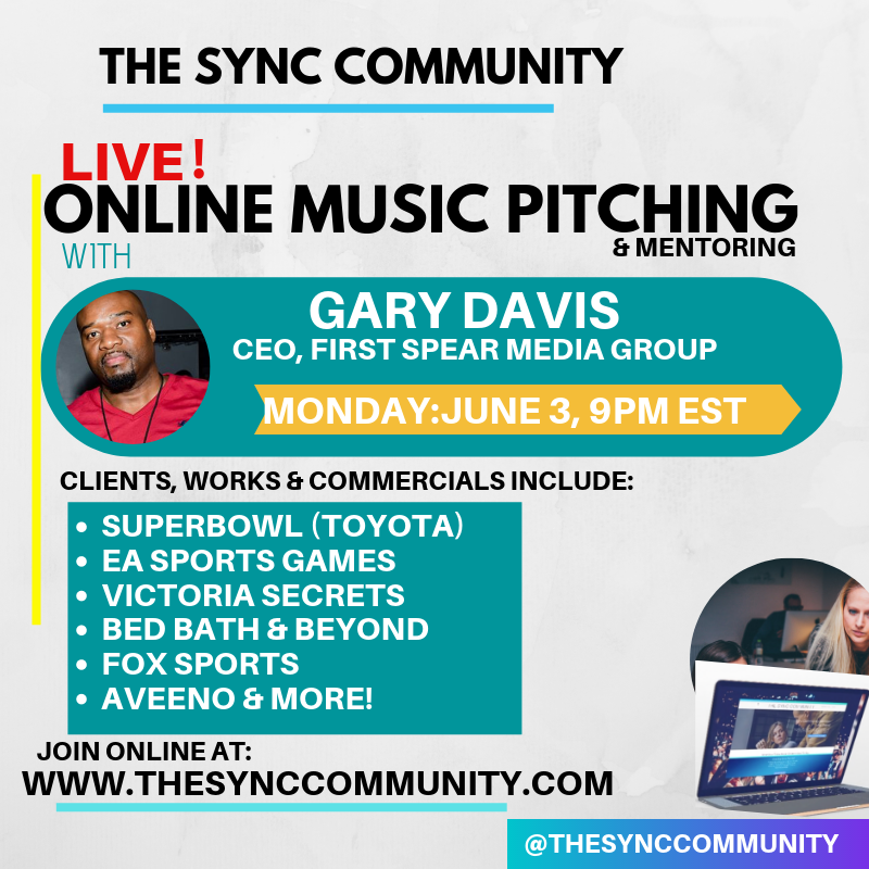 Live Music Pitching with Gary Davis (Superbowl, EA Sports, Bath & Body Works, and more)
