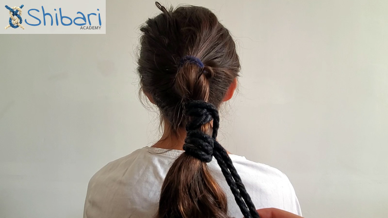Hair Tie Prusik Head Shibari