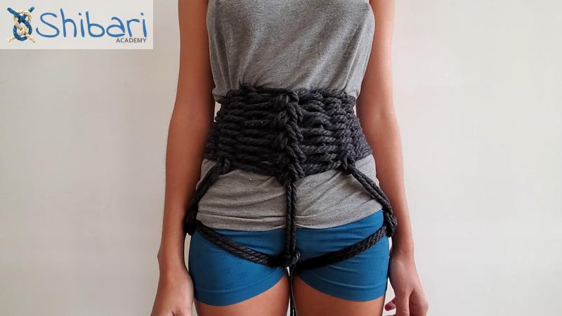 Shibari Chain Stitch Corset decorative weave
