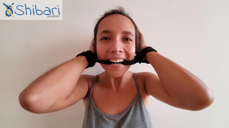 Handcuff gag Shibari