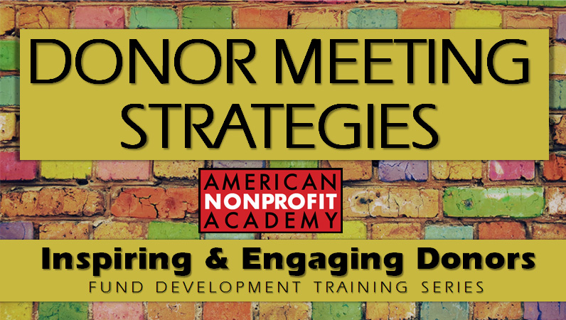Donor Meeting Strategies