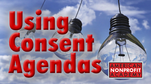 Using Consent Agendas For Nonprofits