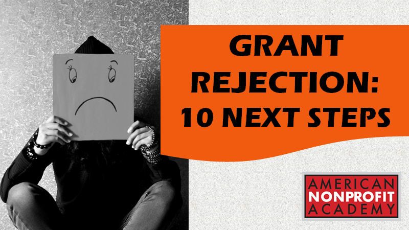 Grant Rejection: 10 Next Steps