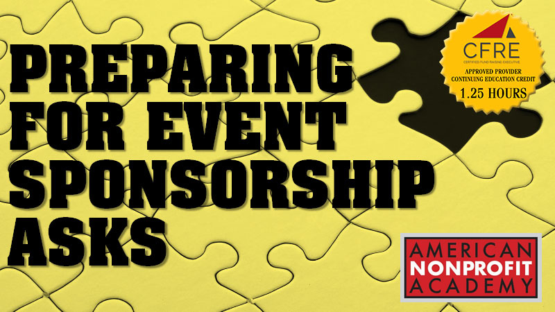 CFRE Continuing Education Preparing For Event Sponsorship Asks