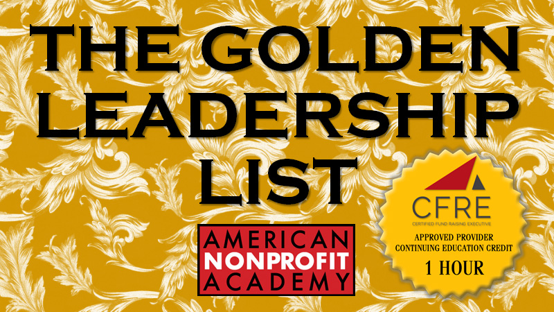 CFRE CONTINUING EDUCATION The Golden Leadership List