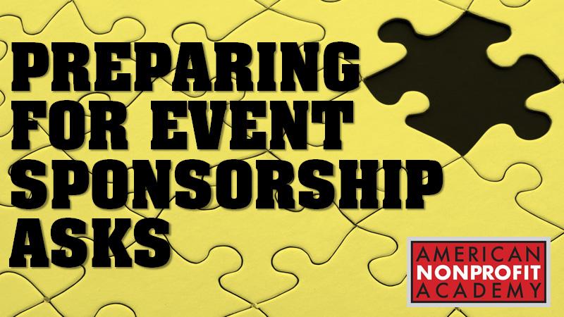 Preparing For Event Sponsorship Asks