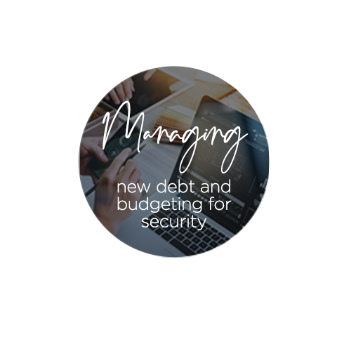 Managing new debt and budgeting for security