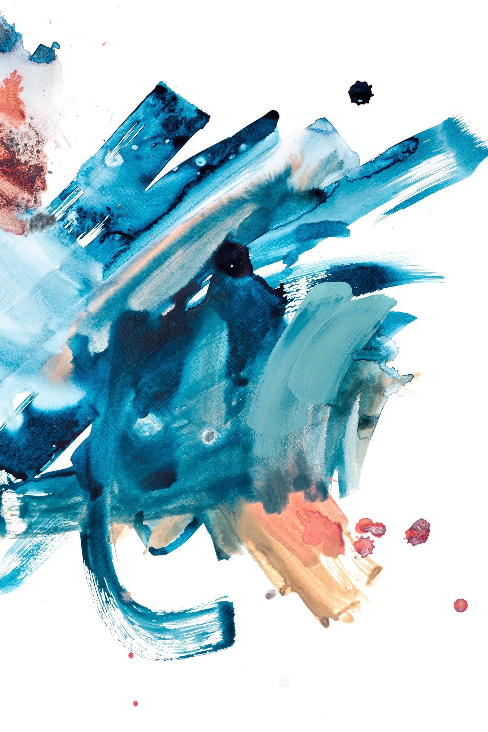 Abstrakts akvarelis