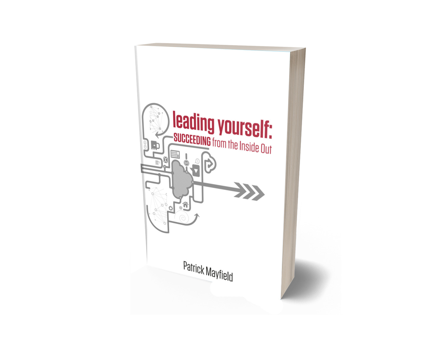 Leading Yourself Paperback Cover in 3D