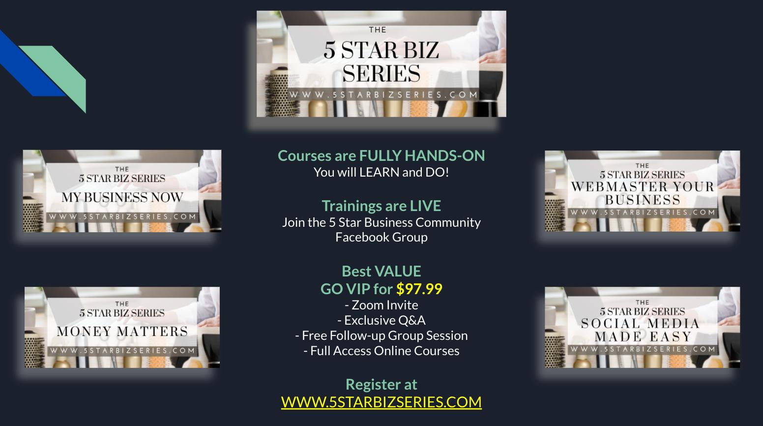 5 Star Biz Series Events