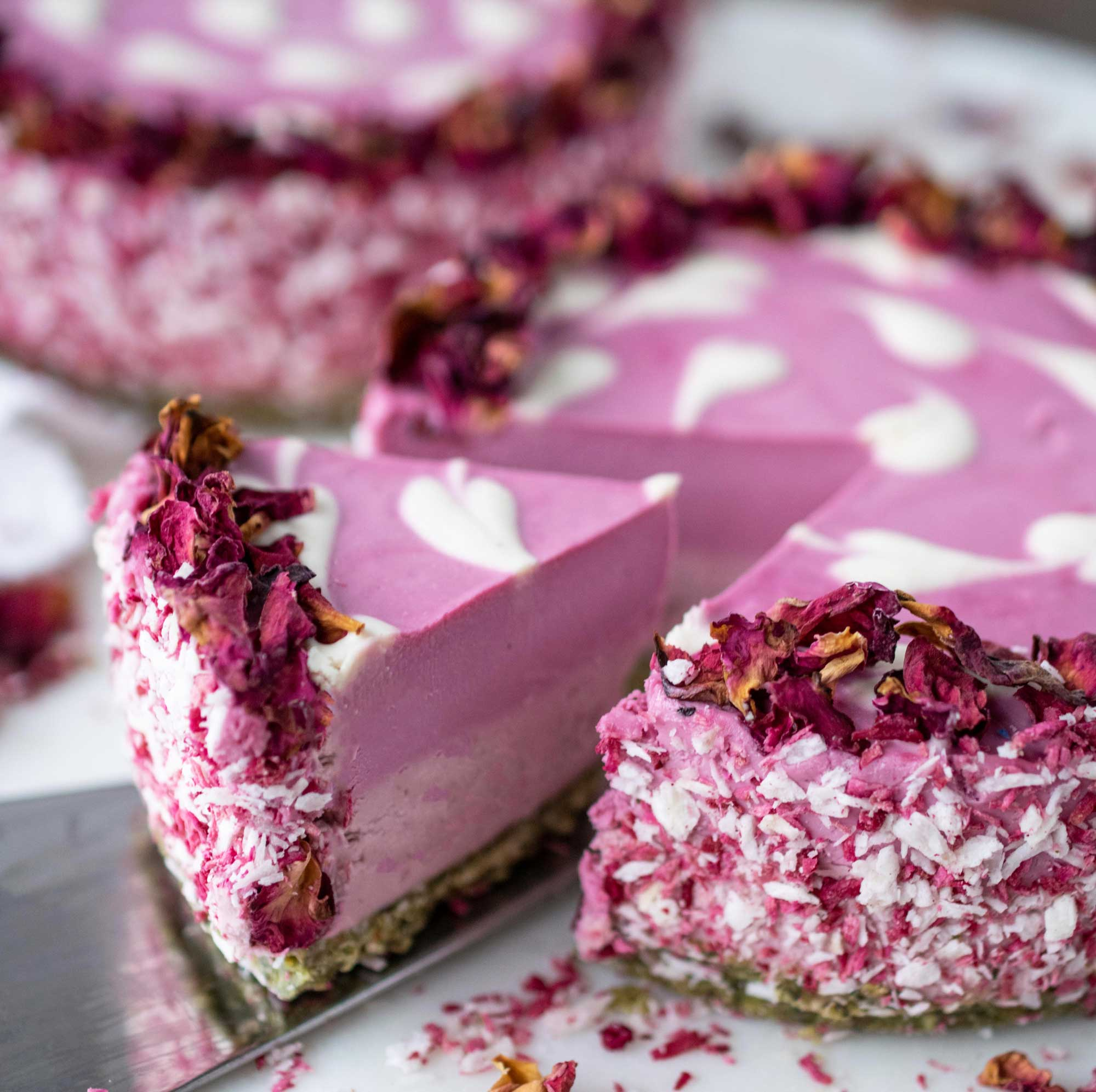 rose hibiscus cheesecake
