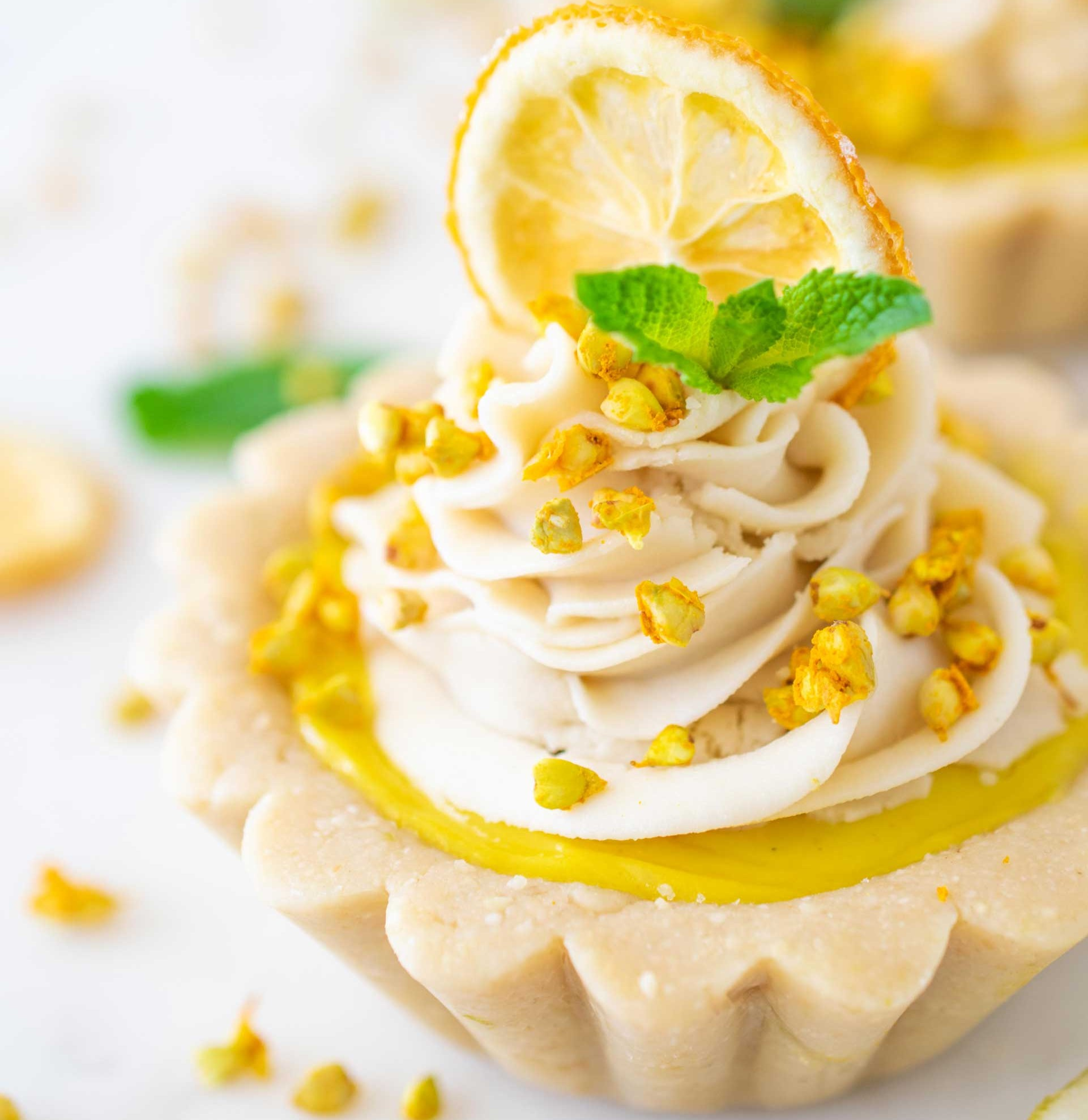 lemon panna cotta tart