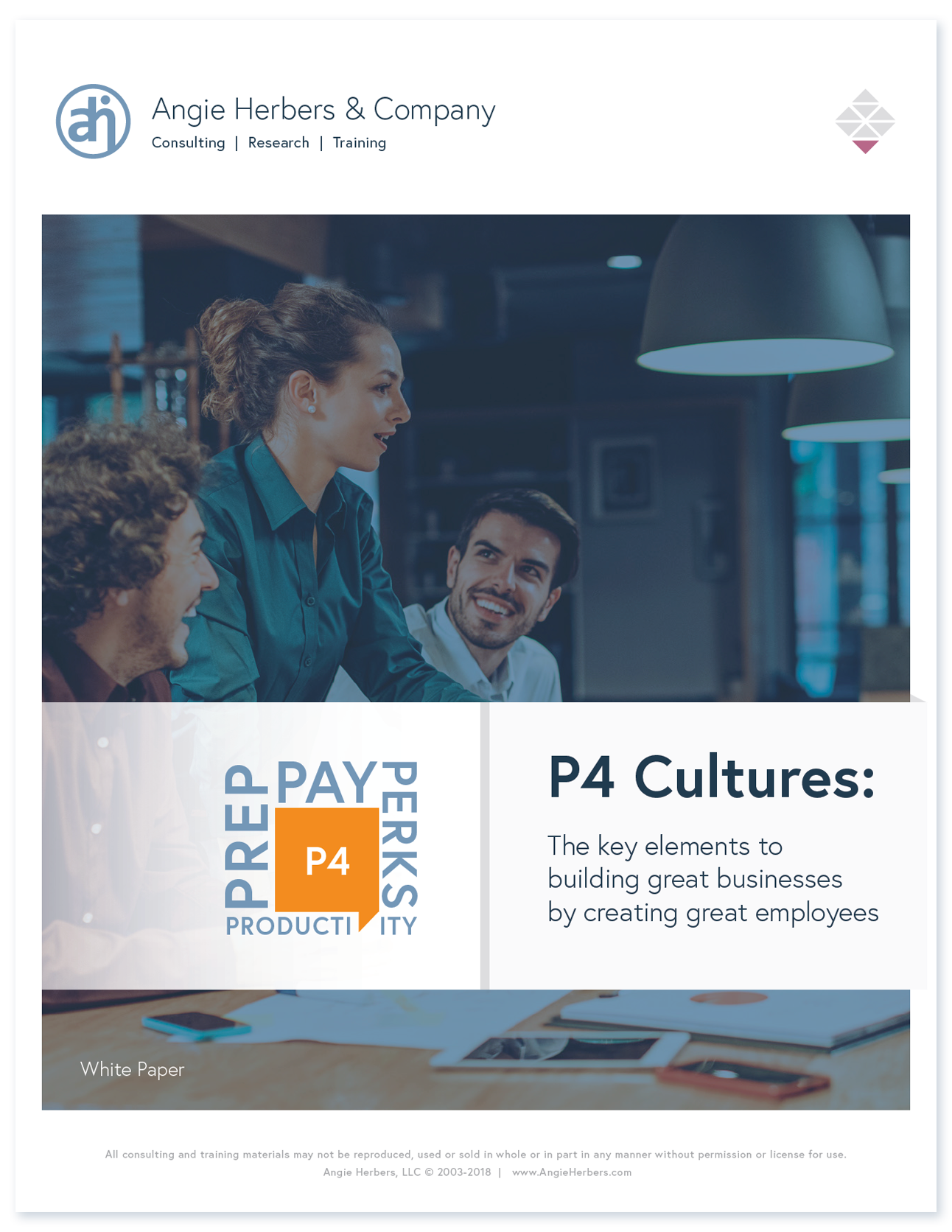 P4: The four key elements to creating great advisory firm cultures.