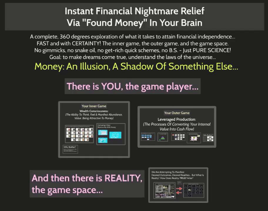 FREE WEBINAR: INSTANT FINANCIAL NIGHTMARE RELIEF THROUGH